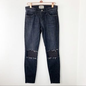 Current/Elliot The Stiletto Jeans Raw Patches